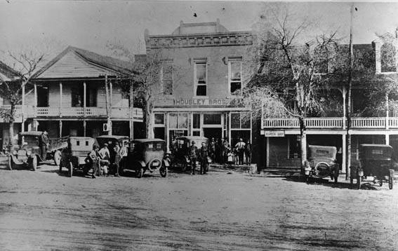 Dahlonega 1920s The town square Center building is Housely Brothers and to the right of it is a barber shop